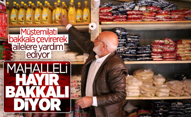 Sivas'ta bir kişi müştemilatı bakkala çevirerek muhtaç ailelere yardım ediyor