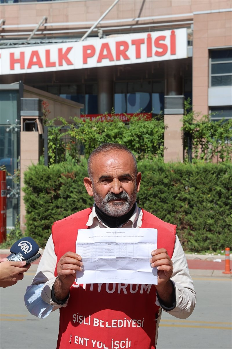 İşten çıkarılan işçiler CHP Genel Merkezi önünde basın açıklaması yaptı #4
