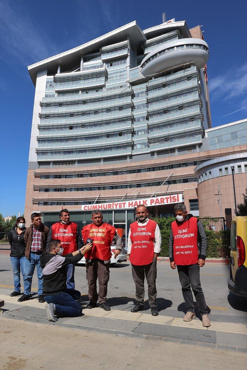 İşten çıkarılan işçiler CHP Genel Merkezi önünde basın açıklaması yaptı #3