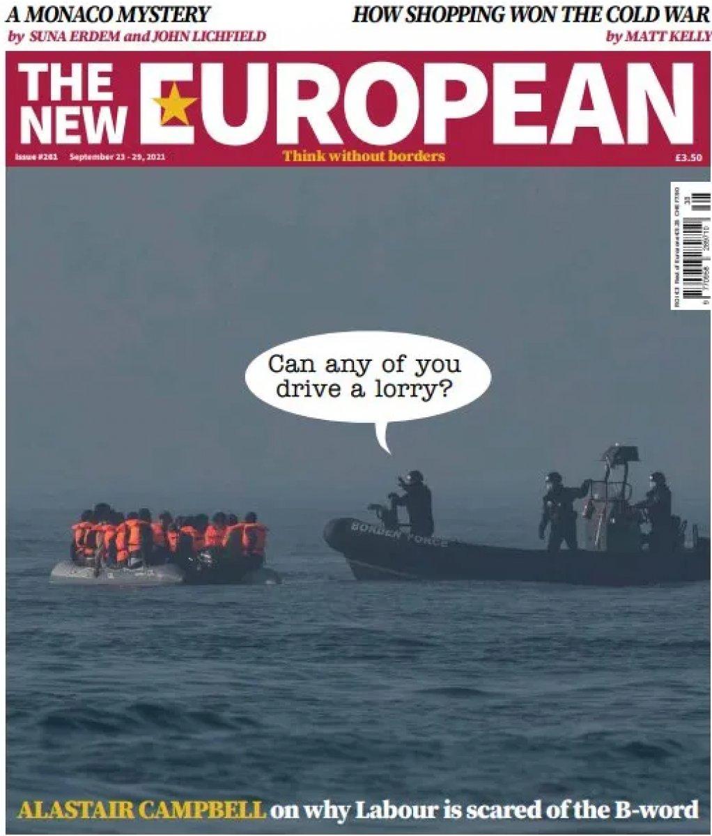İngiliz medyasında çıkan göçmen karikatürü #1