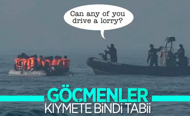 İngiliz medyasında çıkan göçmen karikatürü