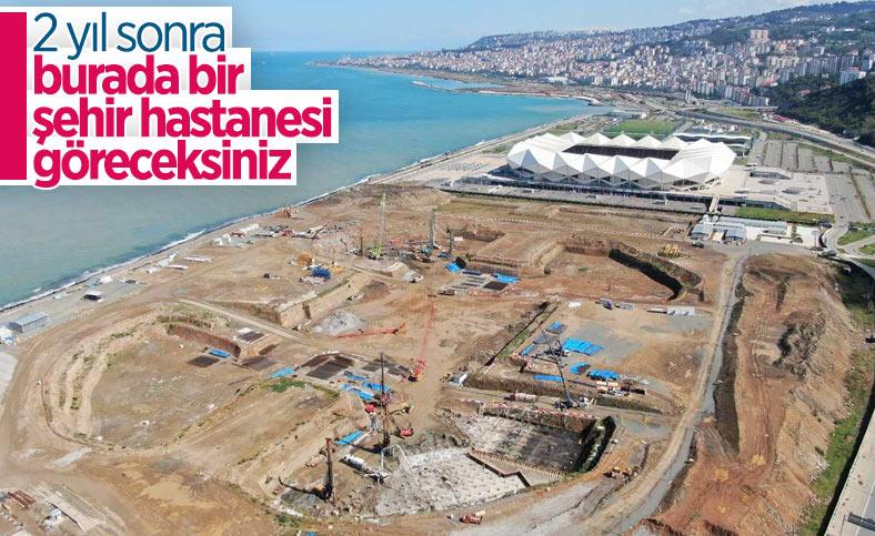 Trabzon Şehir Hastanesi için 400 fore kazık çakılacak