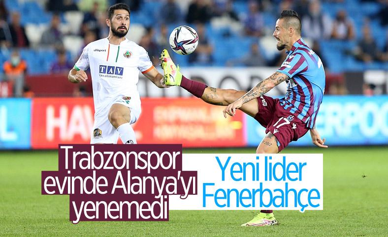 Trabzonspor ile Alanyaspor berabere kaldı