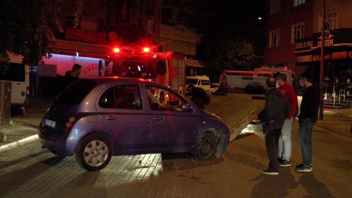 Kartal da direksiyon hakimiyetini kaybeden sürücü otomobiliyle takla attı #3