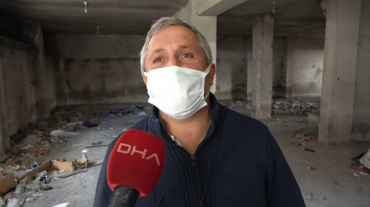 Sultangazi'de, 150 kişinin yaşadığı binanın kolonlarını keserken yakalandılar #6