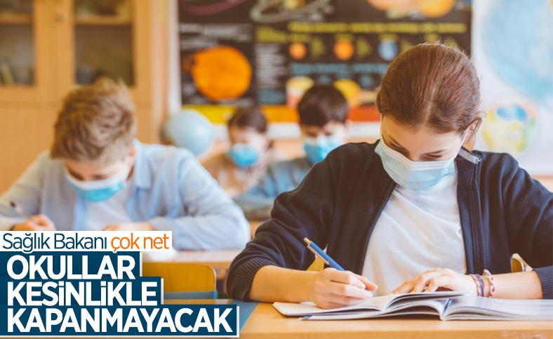 Fahrettin Koca: Okullar kesinlikle kapanmayacak