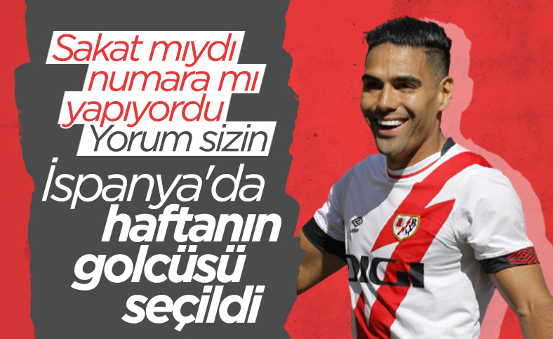 Radamel Falcao haftanın golcüsü seçildi