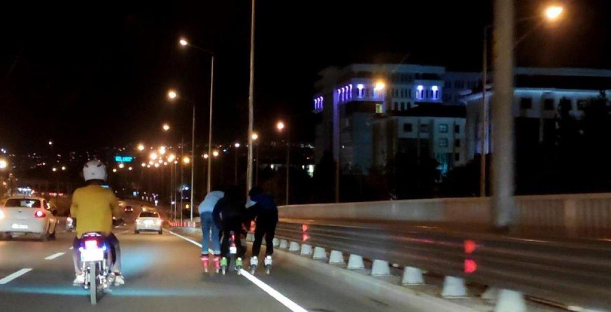 Antalya'da patenli gençler tehlikeye davetiye çıkardı #4