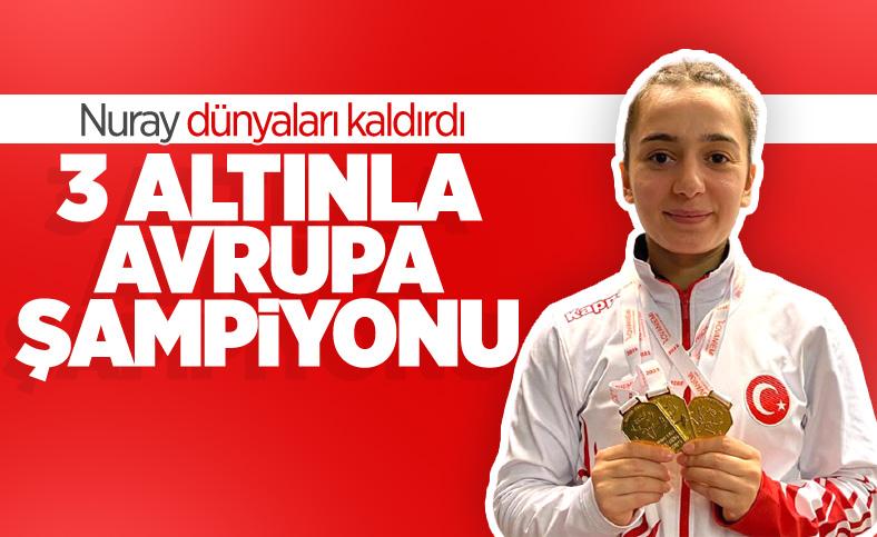 Genç halterci Nuray Levent 3 altınla Avrupa Şampiyonu