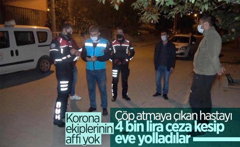 Kırıkkale'de pozitifli genç çöp atmaya çıkınca 4 bin 50 lira ceza yedi
