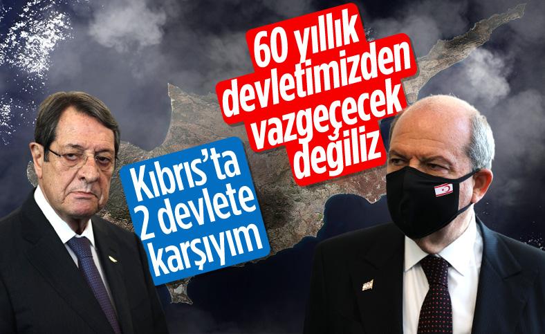 Anastasiadis ve Tatar'dan Kıbrıs'ta iki devletli çözüm açıklamaları