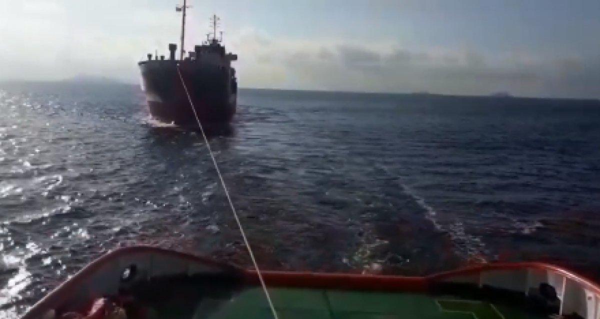 İstanbul Boğazı'nda arızalanan yük gemisi kurtarıldı #2