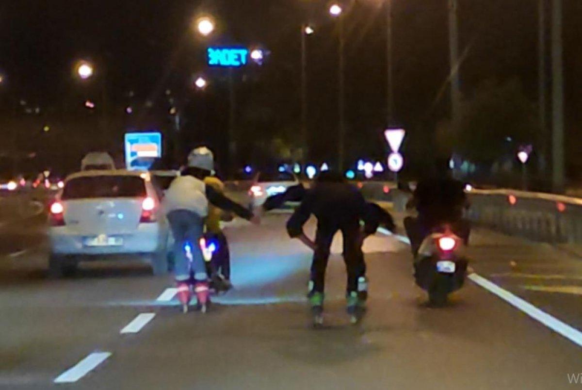Antalya'da patenli gençler tehlikeye davetiye çıkardı #2