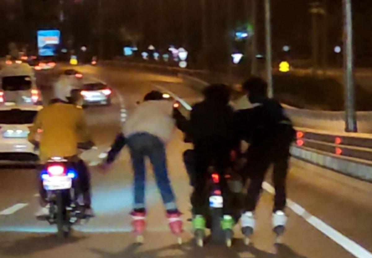 Antalya'da patenli gençler tehlikeye davetiye çıkardı #3
