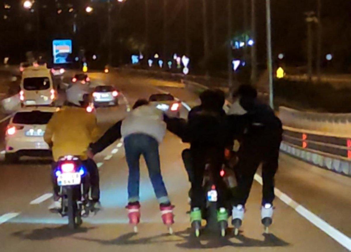 Antalya'da patenli gençler tehlikeye davetiye çıkardı #1