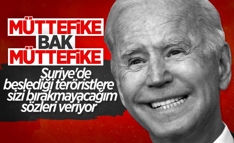 Terörist Mazlum Kobani'ye Joe Biden'dan söz: Sizi terk etmeyeceğiz