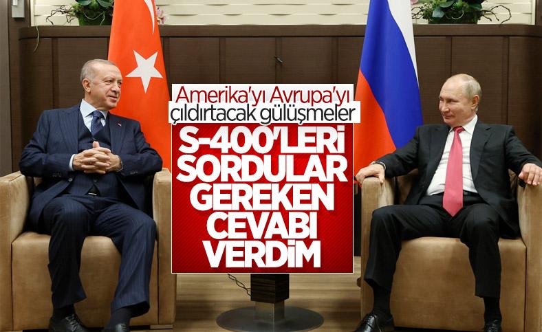 Cumhurbaşkanı Erdoğan ile Putin arasında gülümseten S-400 diyaloğu