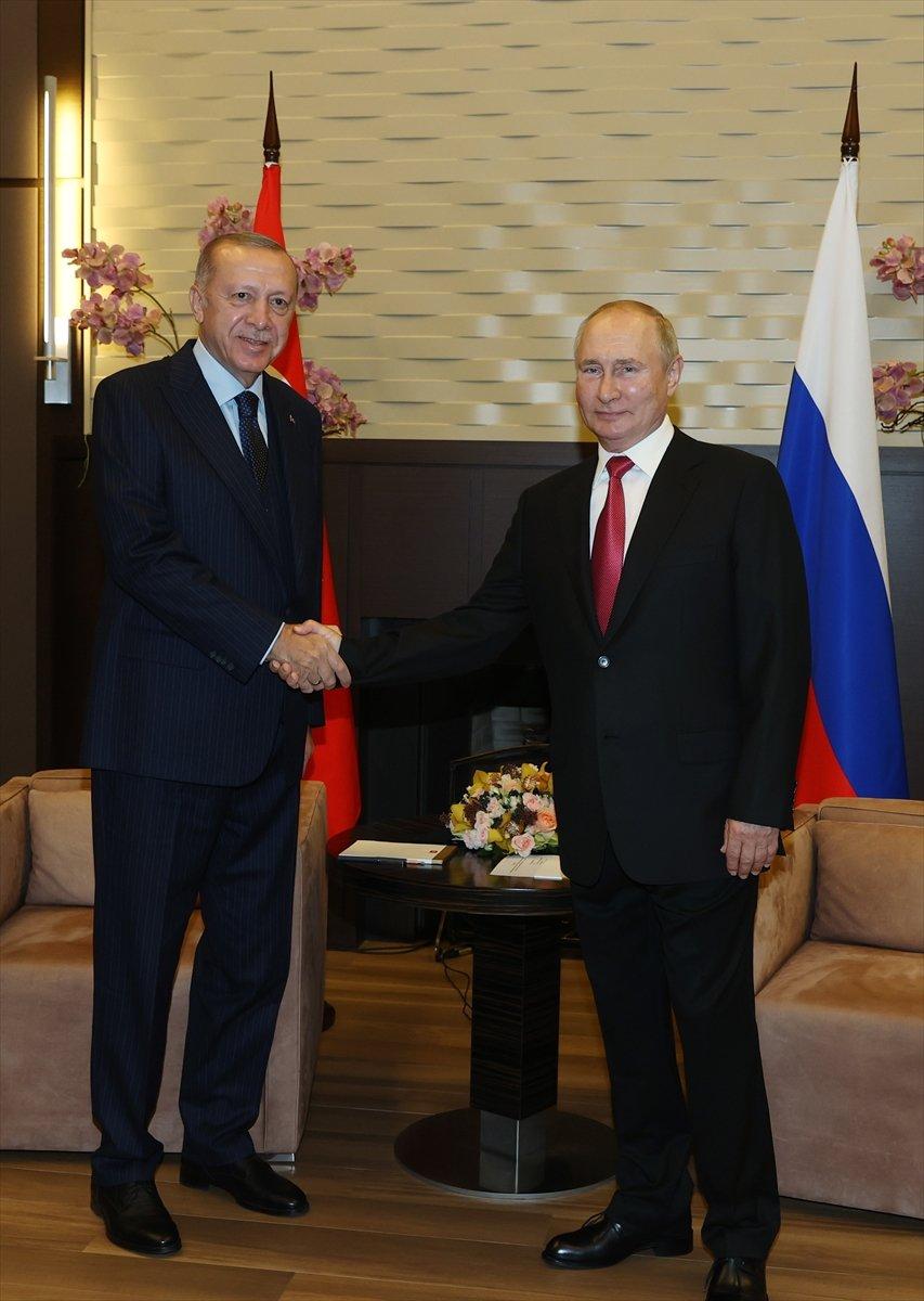 Cumhurbaşkanı Erdoğan ın Putin le görüşmesi sona erdi #5