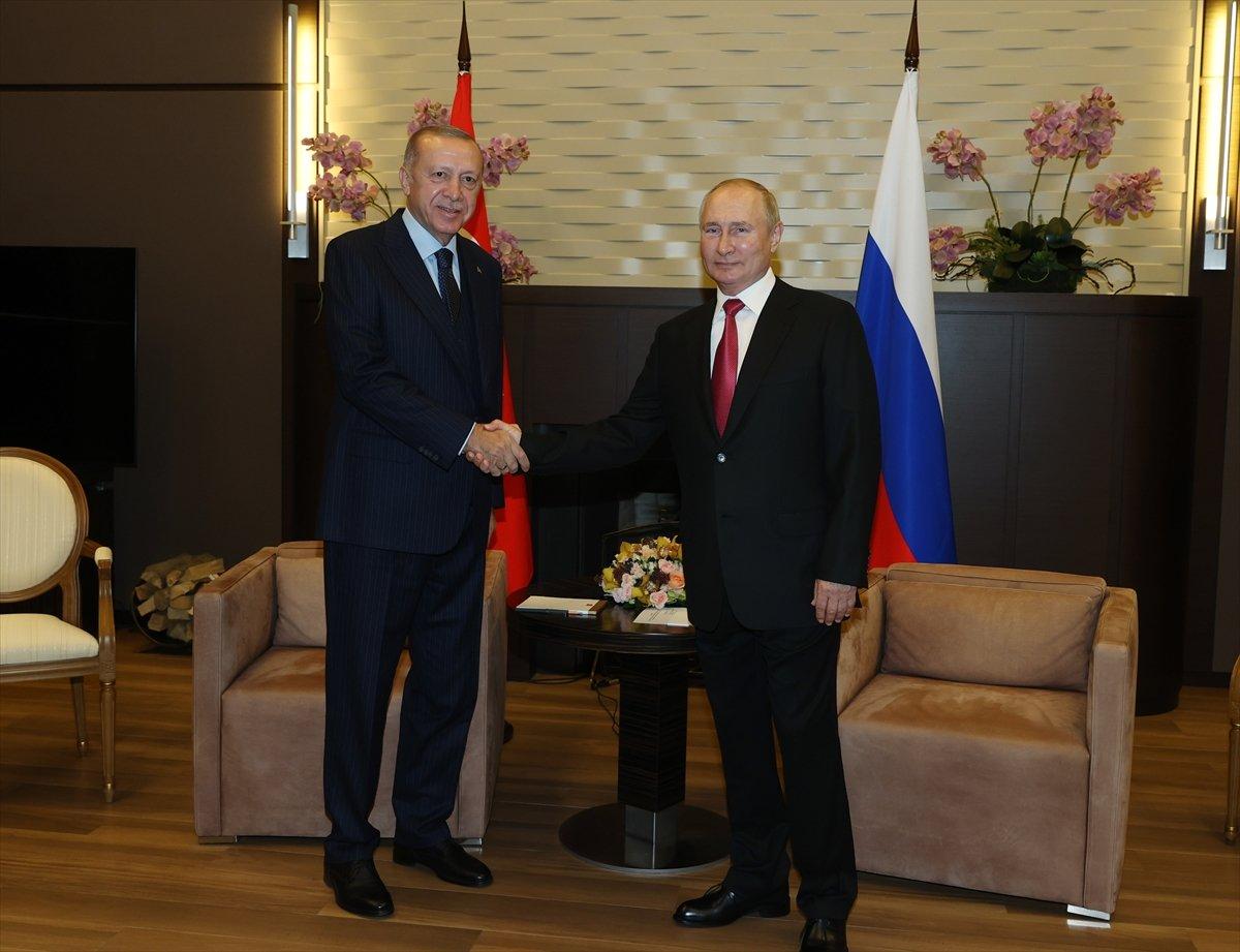 Cumhurbaşkanı Erdoğan ın Putin le görüşmesi sona erdi #6
