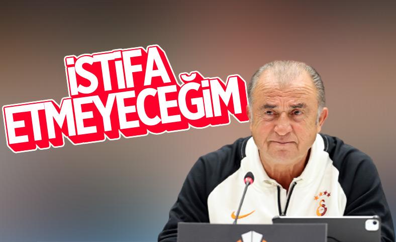 Fatih Terim, istifa iddialarına son noktayı koydu