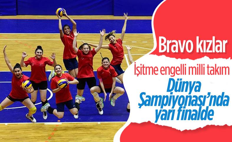 İşitme engelli kadın voleybol takımı, Dünya Şampiyonası'nda yarı finalde