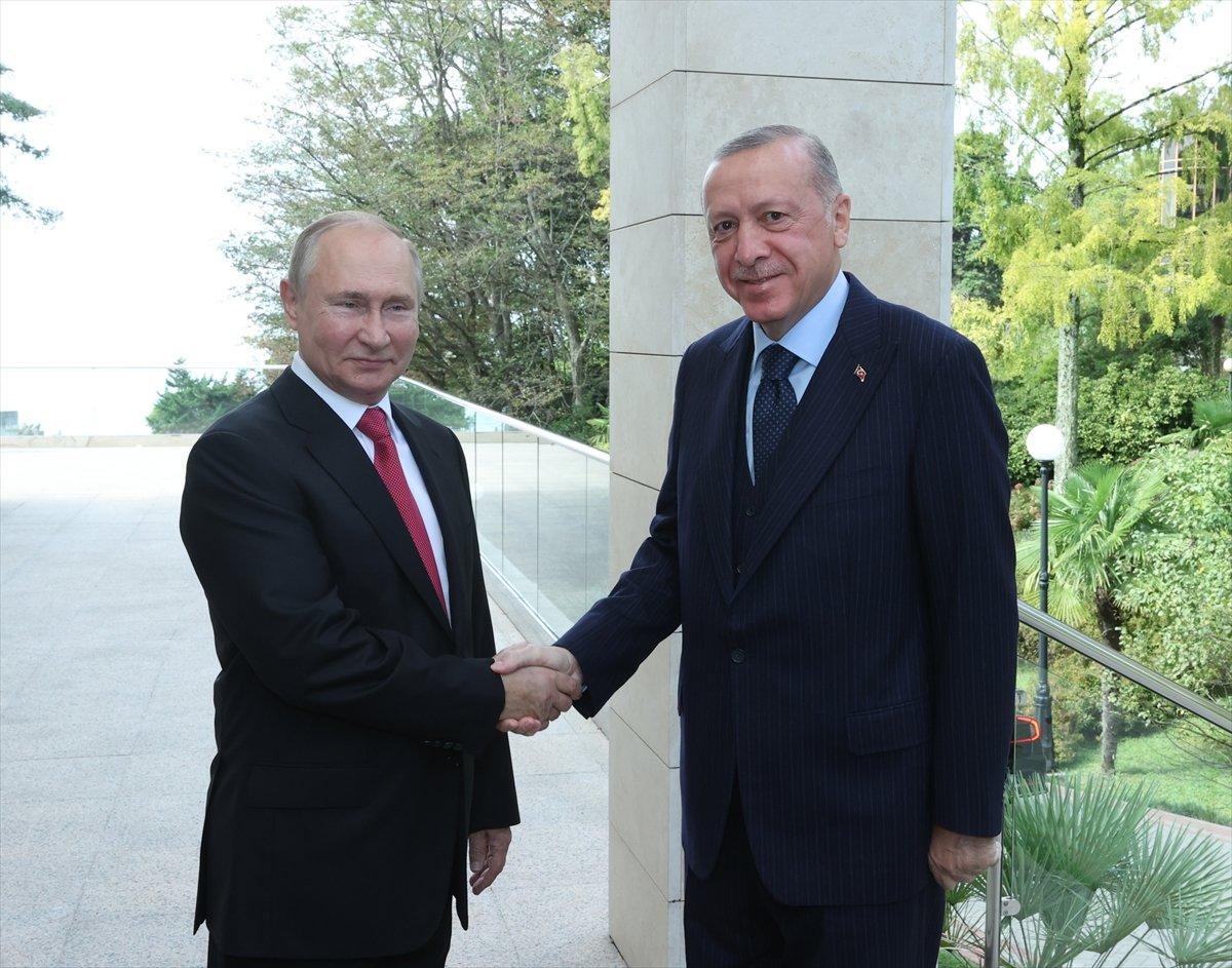 Cumhurbaşkanı Erdoğan ın Putin le görüşmesi sona erdi #4