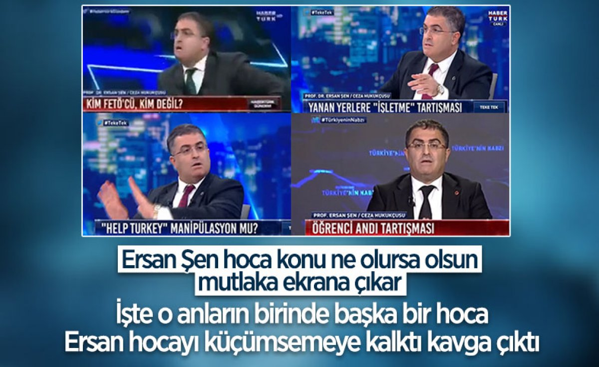 Habertürk canlı yayınında Yaşar Hacısalihoğlu ile Ersan Şen in sözlü kavgası #5