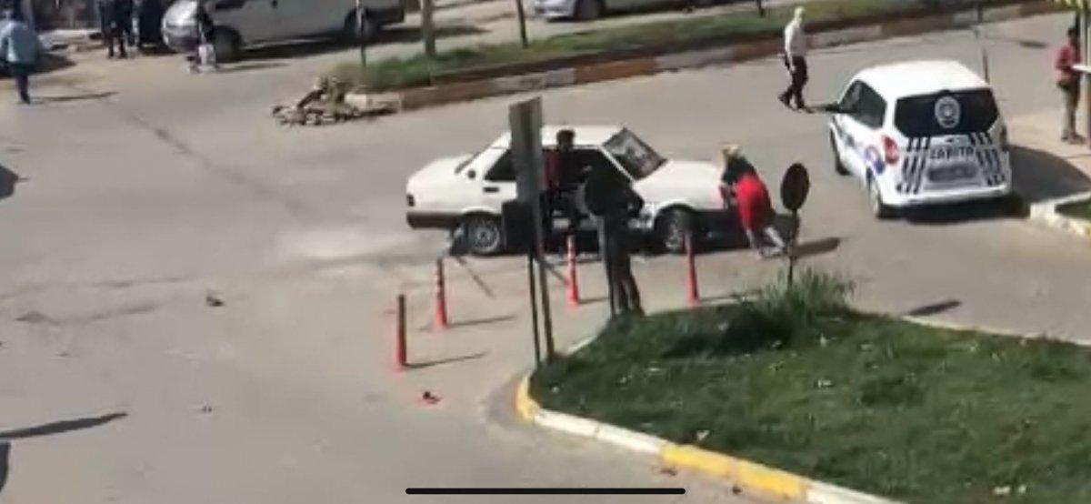 Zonguldak ta tartıştığı kadının üzerine otomobilini sürdü #5