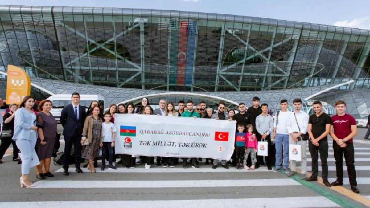 Azerbaycan da Türk iş insanlarından şehit çocuklarına destek #1