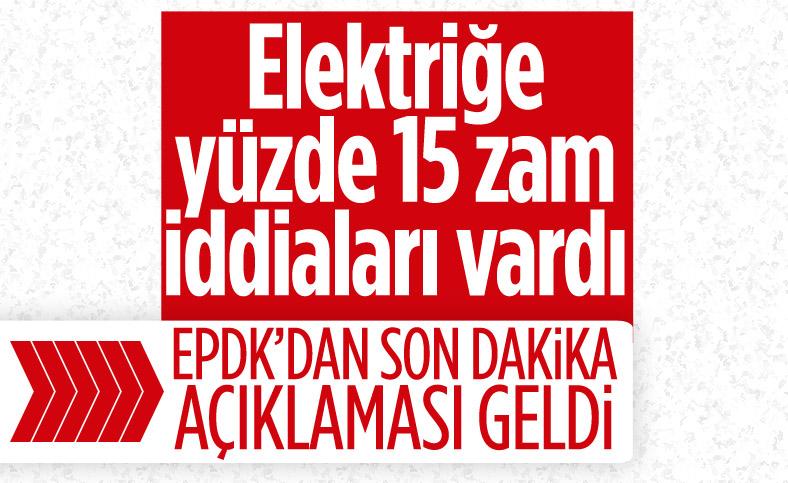 EPDK: Elektrik zammı iddiası gerçek dışı