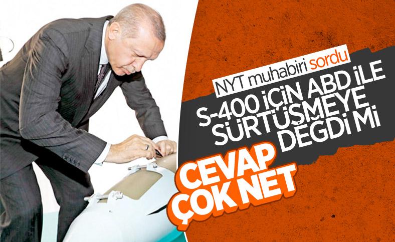 Cumhurbaşkanı Erdoğan, New York Times'a S-400 ile ilgili konuştu