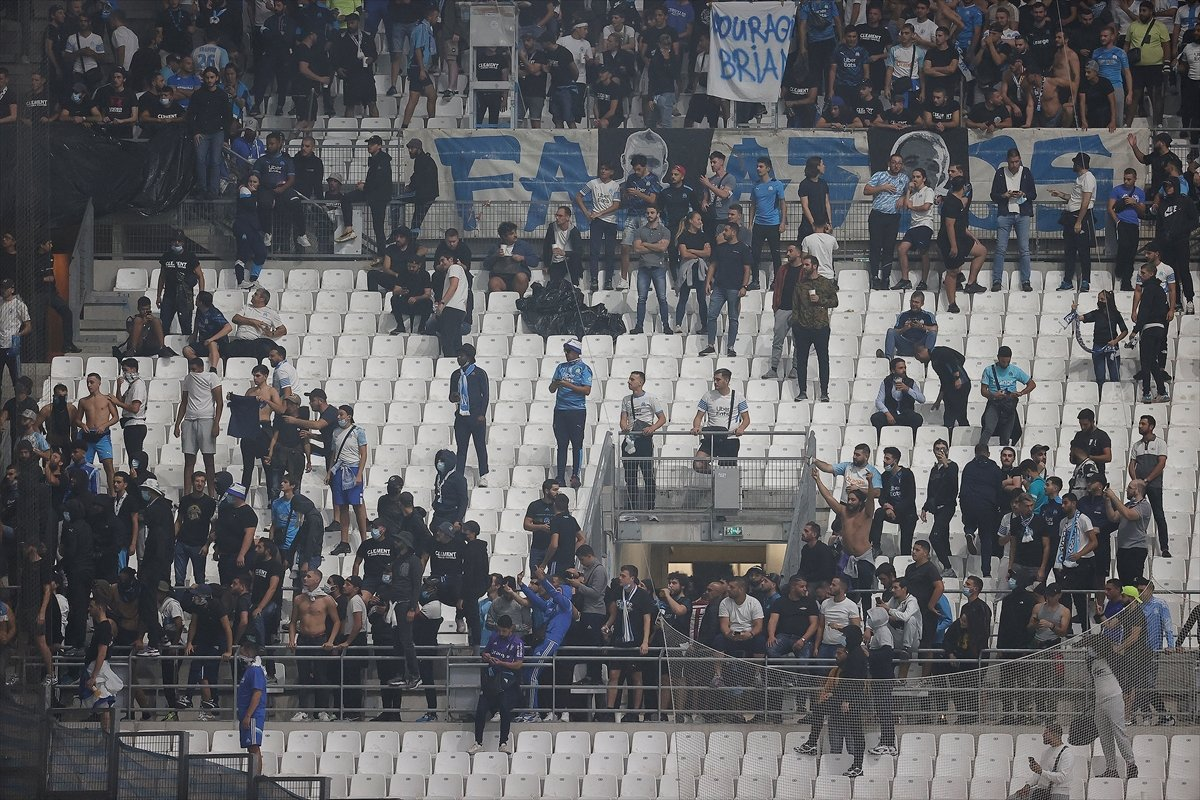 Marsilya-Galatasaray maçında olay çıktı #7