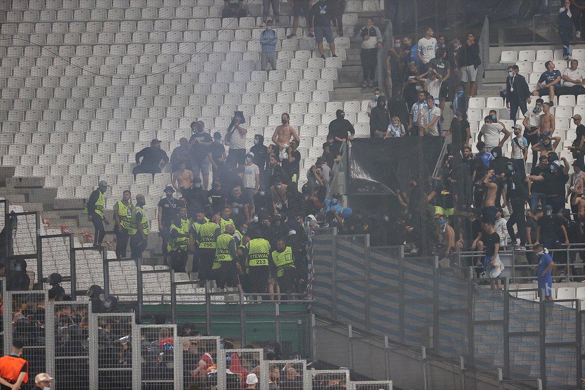 Marsilya-Galatasaray maçında olay çıktı #6
