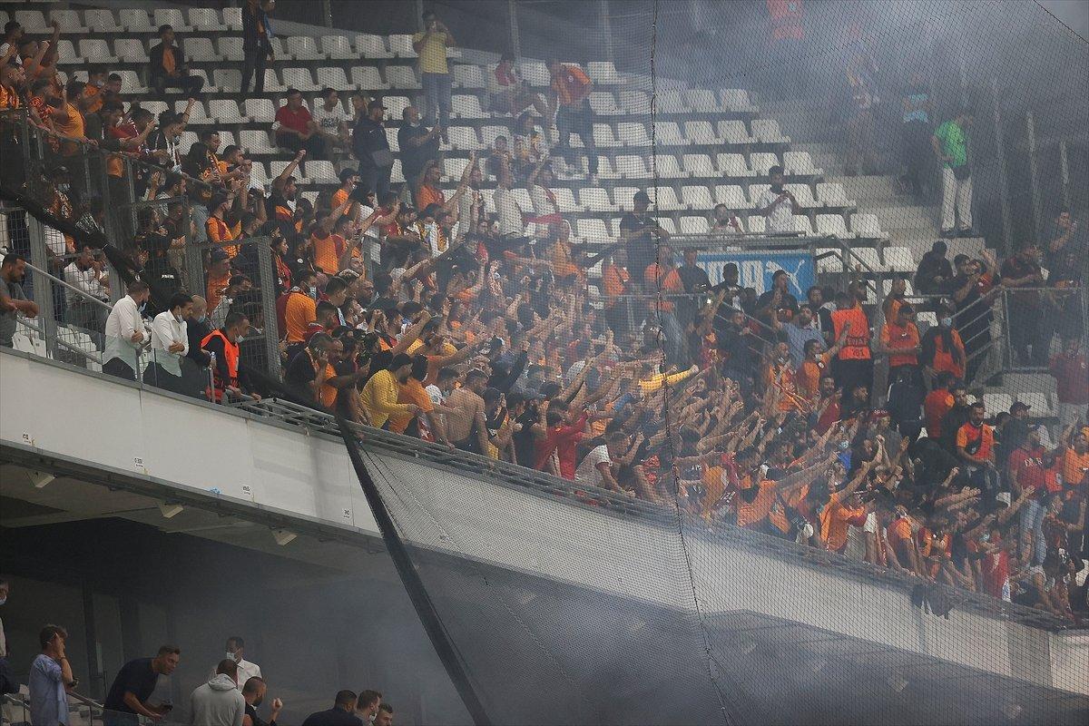 Marsilya-Galatasaray maçında olay çıktı #5