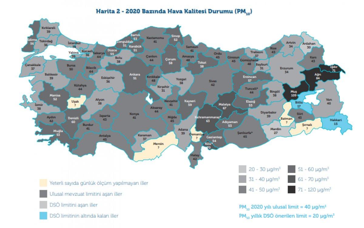 Türkiye de geçen yıl 13 şehirde  yüksek hava kirliliği  olduğu belirlendi #3