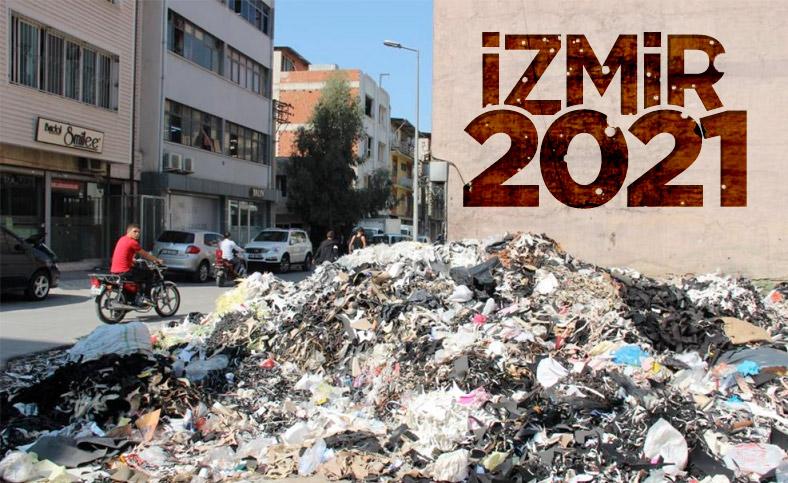 İzmir araziye yığılan çöplerle yeniden gündeme geldi