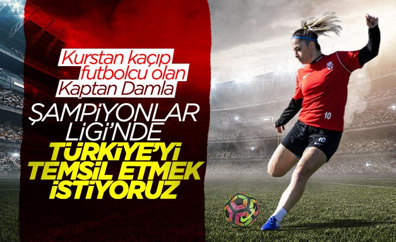 Kadın futbol takımında kaptanlık yapan Damla, başarı hikayesini anlattı