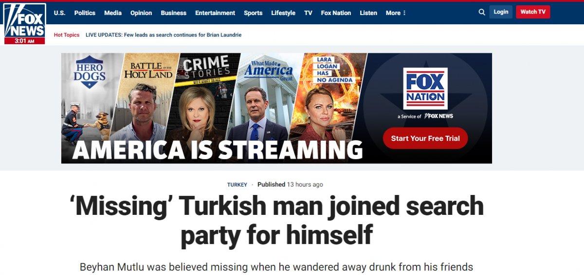 Bursa da  kendini arayan adam  dünya gündeminde #3