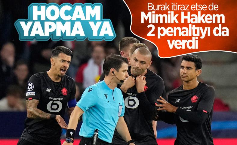 Halil Umut Meler verdiği 2 penaltı kararıyla Lille'i yıktı