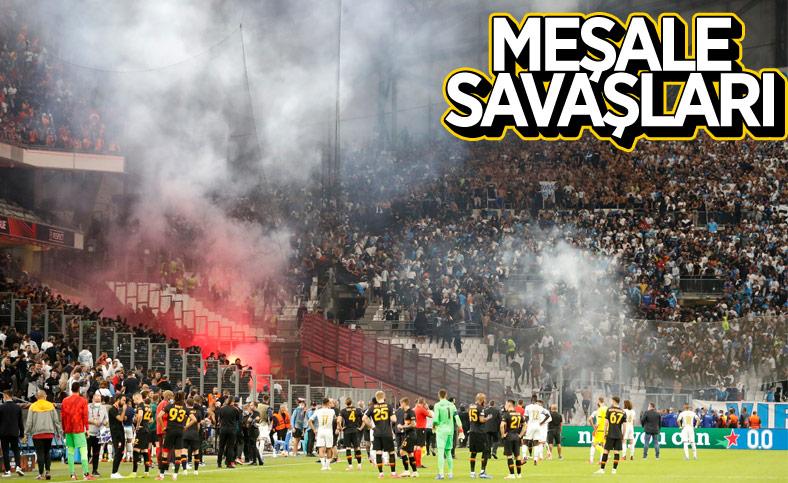 Marsilya-Galatasaray maçı durdu