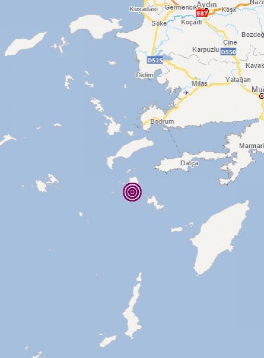 Datça açıklarında 3 ayrı deprem #1
