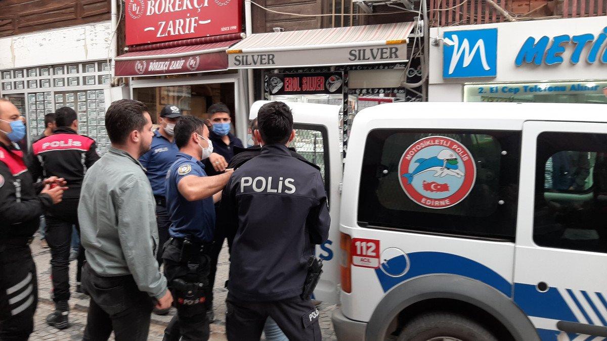 Edirne de kardeş ağabeyini yaraladı  #7