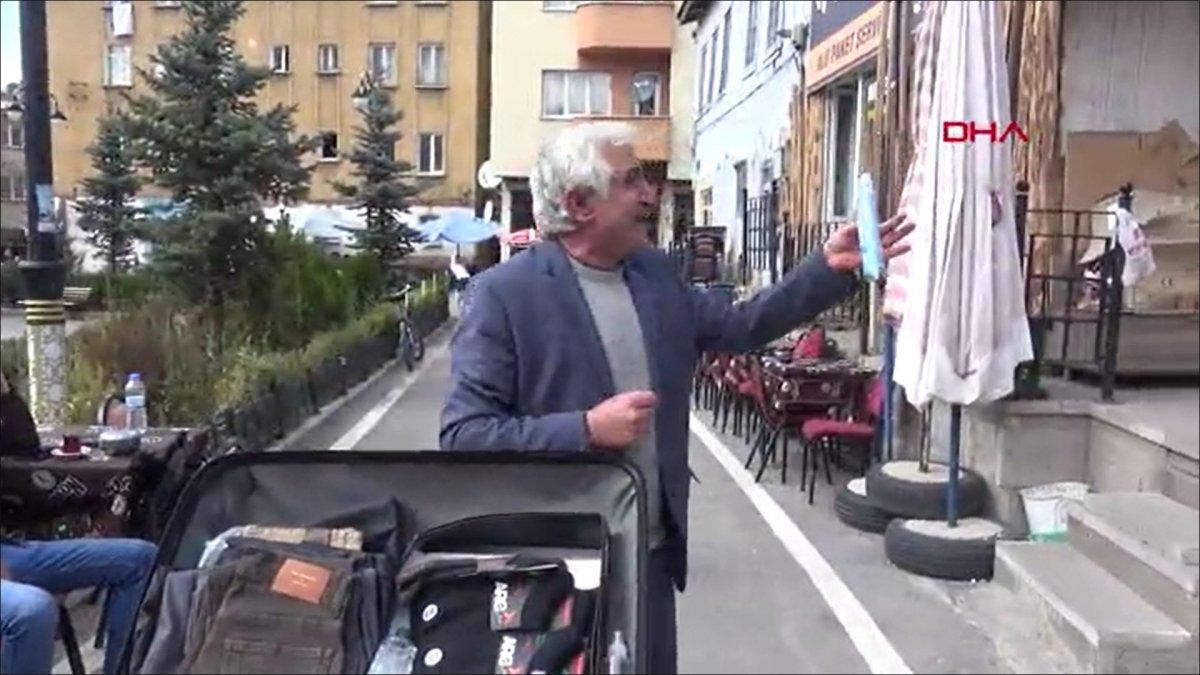 Erzurum'da, esprili satış yapan seyyar satıcı ilgi çekti #2