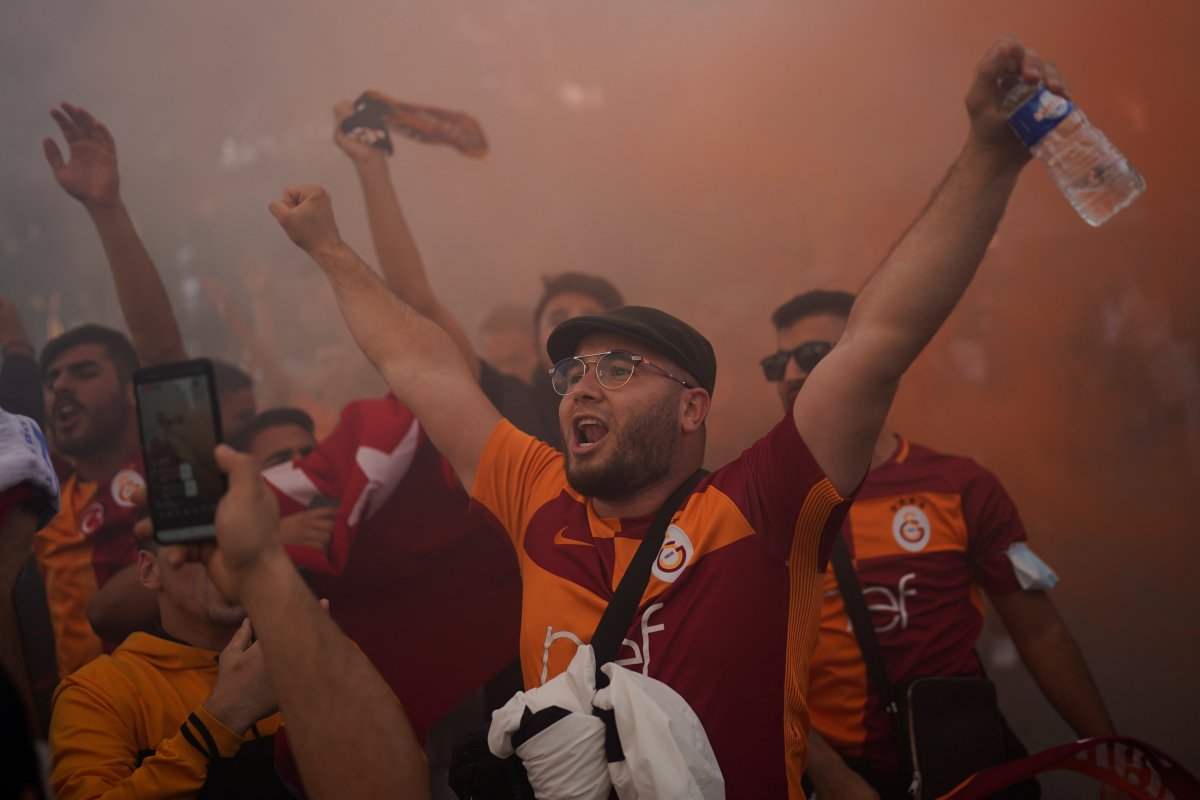 Marsilya-Galatasaray maçında olay çıktı #4
