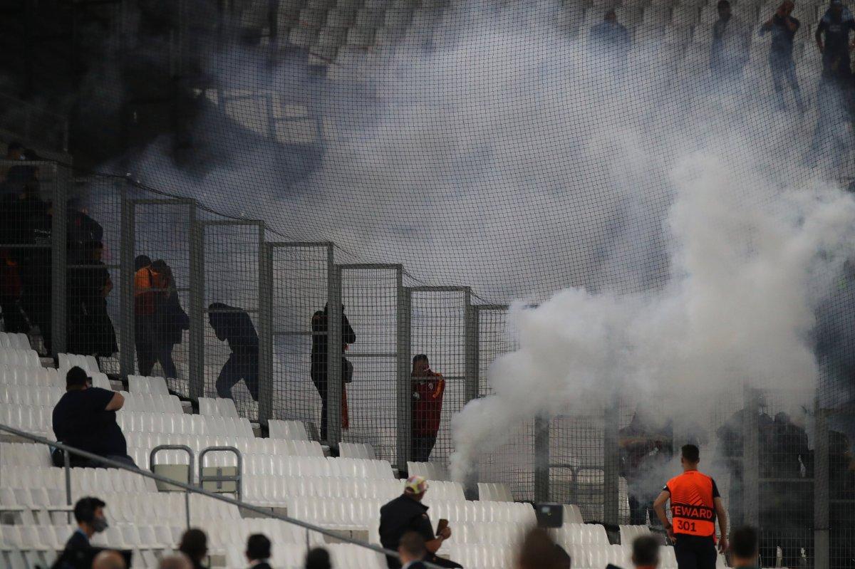 Marsilya-Galatasaray maçında olay çıktı #3