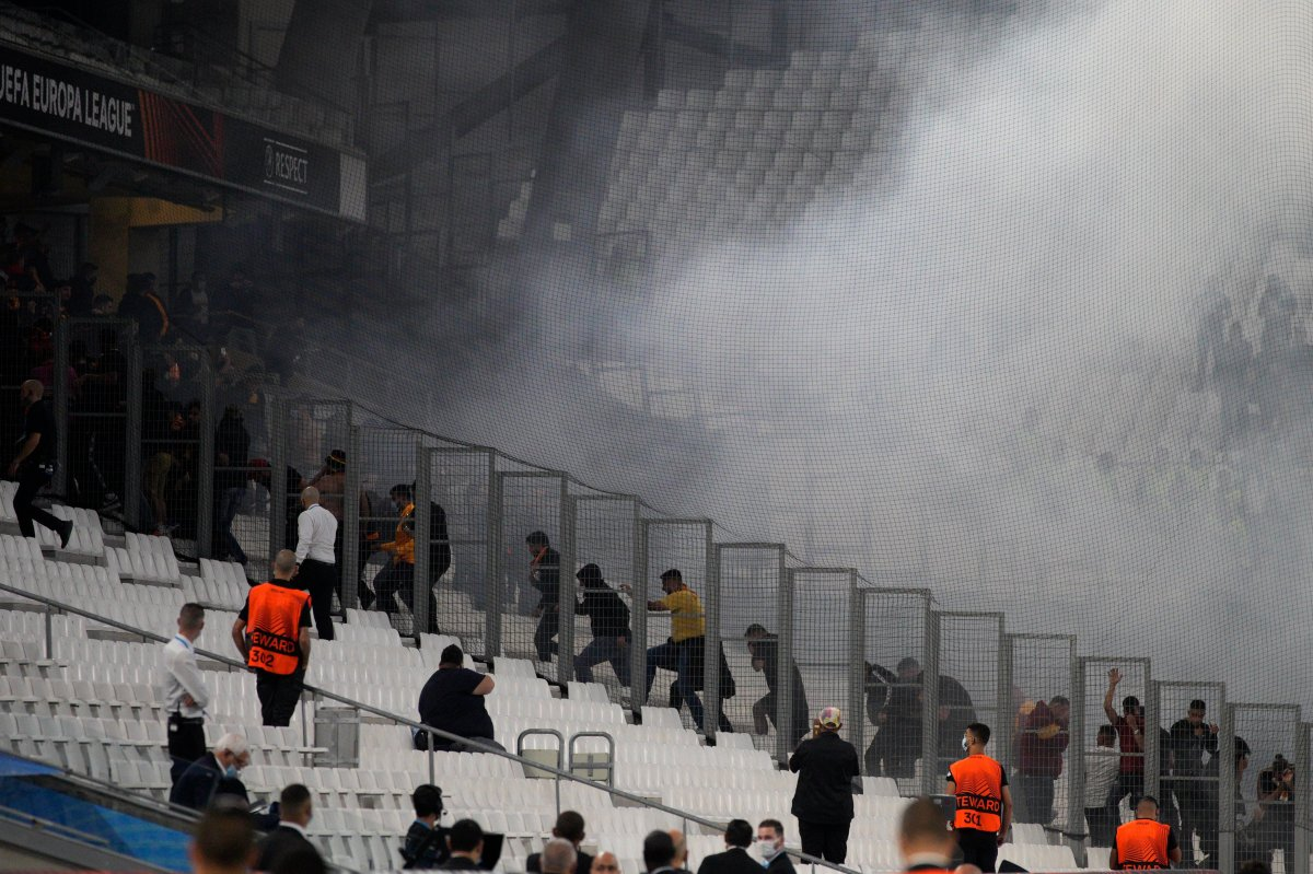 Marsilya-Galatasaray maçında olay çıktı #2