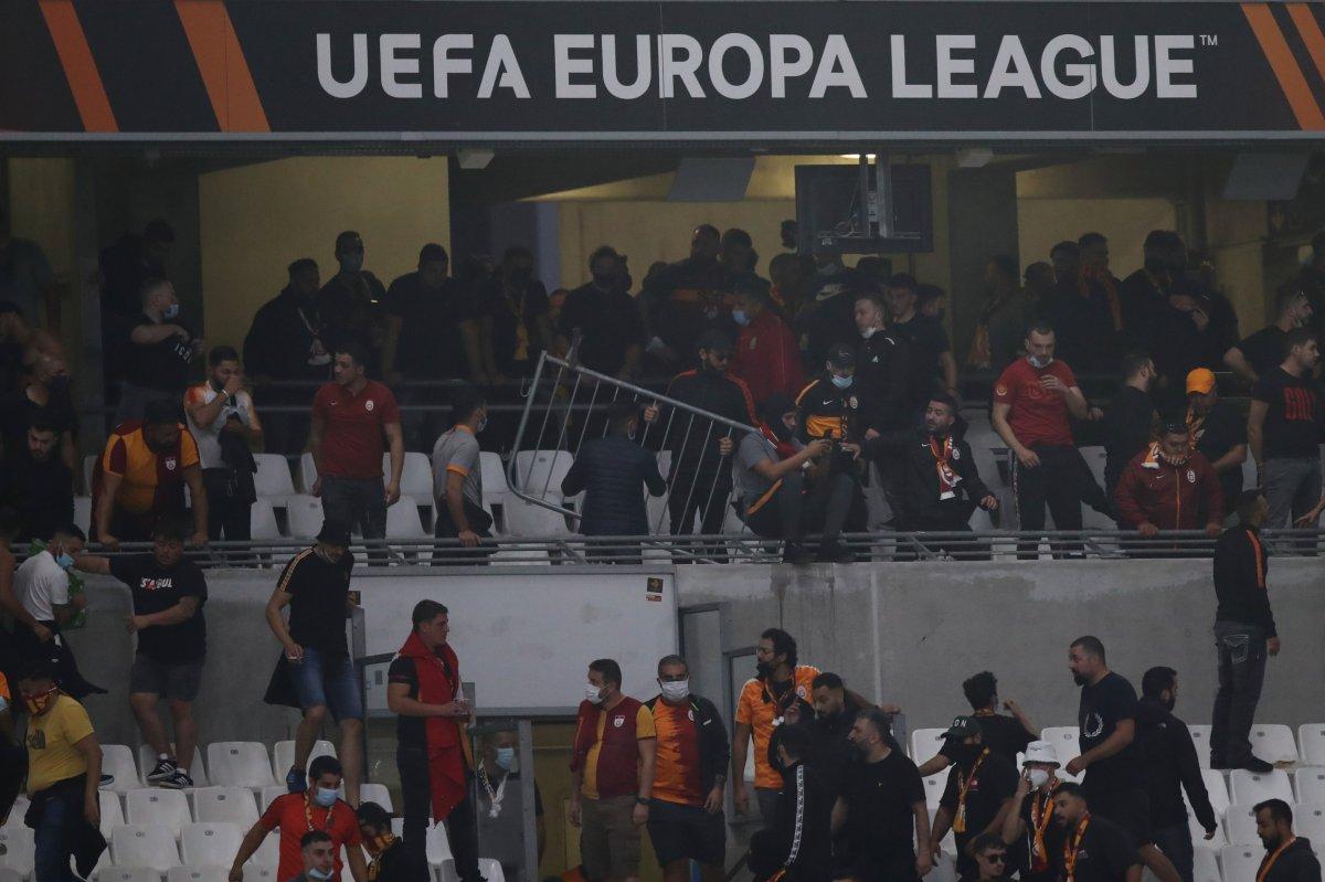 Marsilya-Galatasaray maçında olay çıktı #1