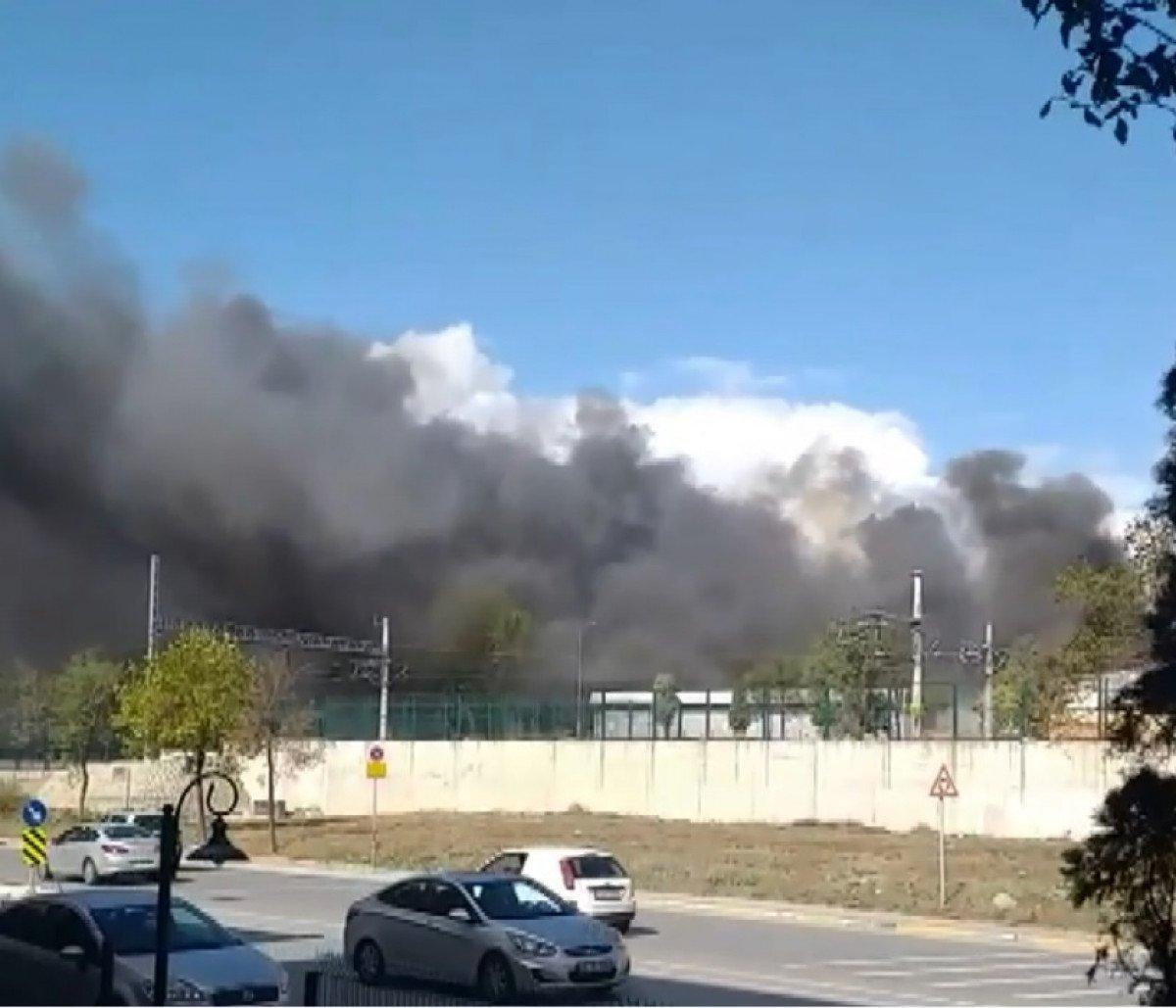 Tuzla da fabrikada yangın meydana geldi  #3