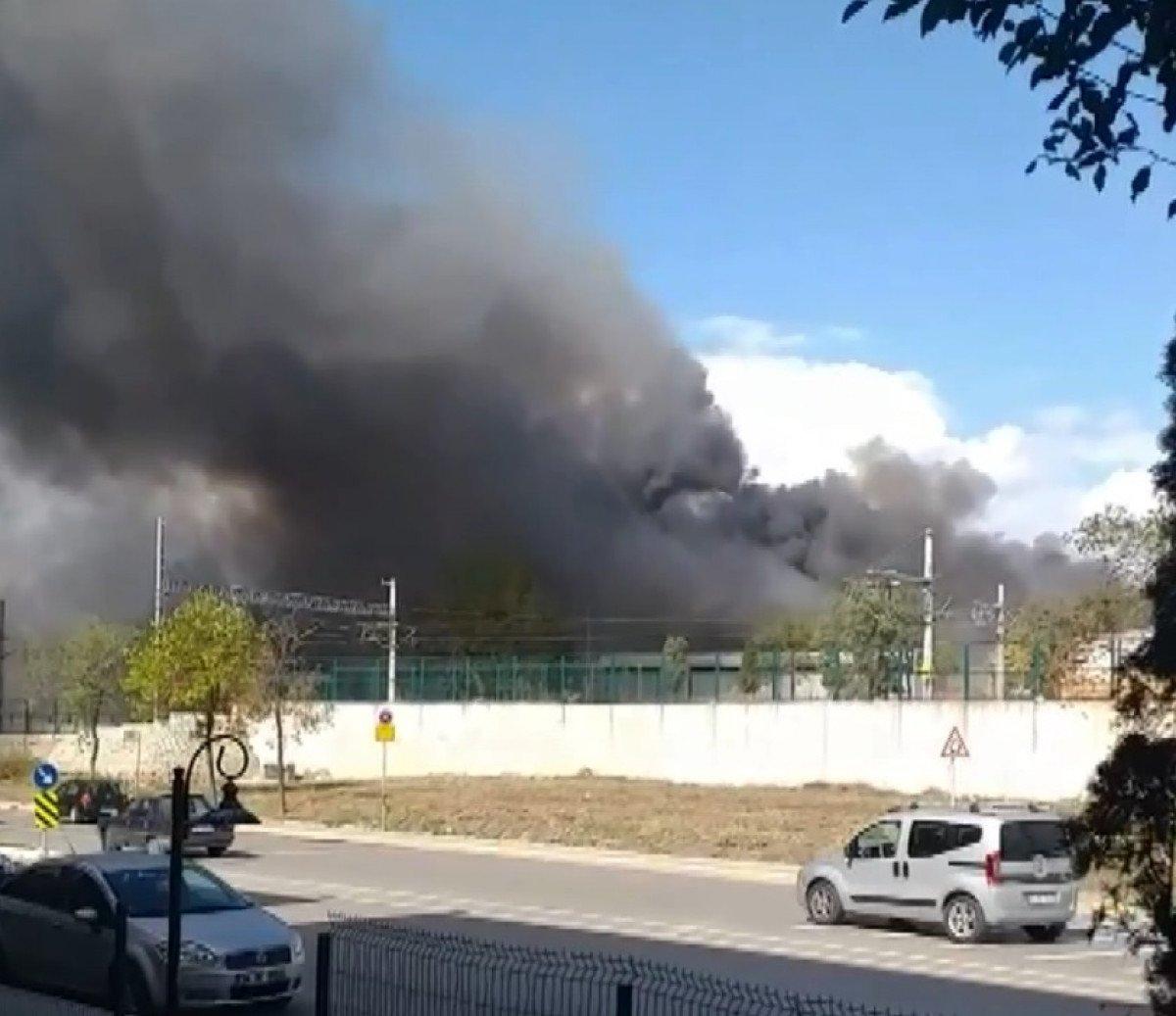 Tuzla da fabrikada yangın meydana geldi  #2