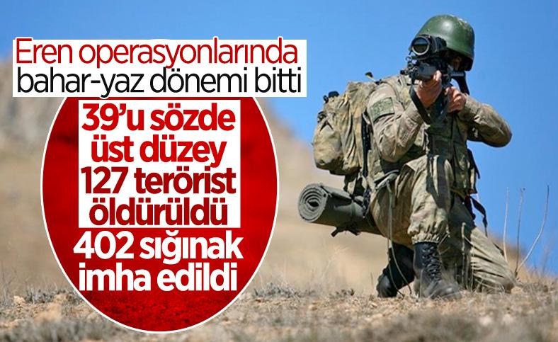 İlkbahar-yaz dönemi operasyonlarında 127 terörist etkisiz hale getirildi